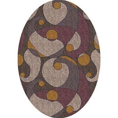 Milliken Pastiche Remous Brown Contemporary Oval Rug; Oval 7'8'' x 10'9''