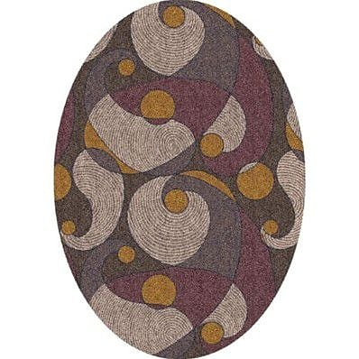 Milliken Pastiche Remous Brown Contemporary Oval Rug; Oval 3'10'' x 5'4''