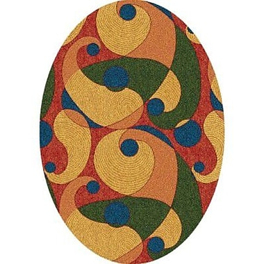 Milliken Pastiche Remous Fiji Contemporary Oval Rug; Oval 5'4'' x 7'8''
