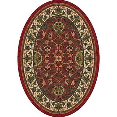 Milliken Pastiche Sumero Indian Red Oval Rug; Oval 5'4'' x 7'8''