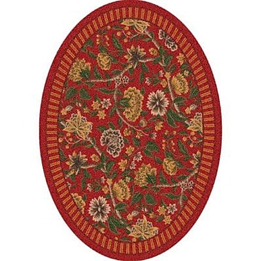 Milliken Pastiche Vachell Indian Red Oval Rug; Oval 7'8'' x 10'9''