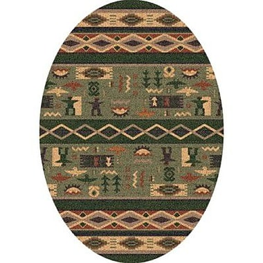 Milliken Pastiche Wide Ruins Autumn Forest Southwestern Oval Rug; Oval 3'10'' x 5'4''