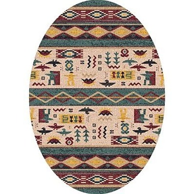 Milliken Pastiche Wide Ruins Hazy Forest Southwestern Oval Rug; Oval 7'8'' x 10'9''