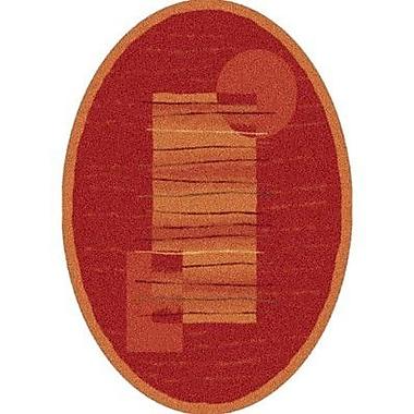 Milliken Pastiche Horizon Persimmon Oval Rug; Oval 5'4'' x 7'8''