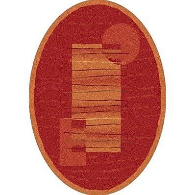 Milliken Pastiche Horizon Persimmon Oval Rug; Oval 7'8'' x 10'9''