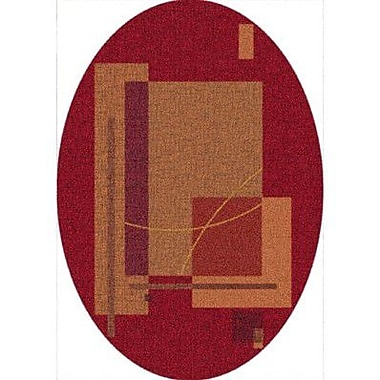 Milliken Pastiche Fairmont Sangria Oval Rug; Oval 5'4'' x 7'8''