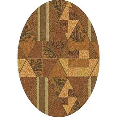 Milliken Pastiche Valencia Sunset Gold Oval Rug; Oval 5'4'' x 7'8''