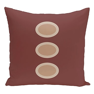 e by design Geometric Decorative Floor Pillow; Brown