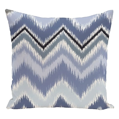 e by design Chevron Decorative Floor Pillow; Sky