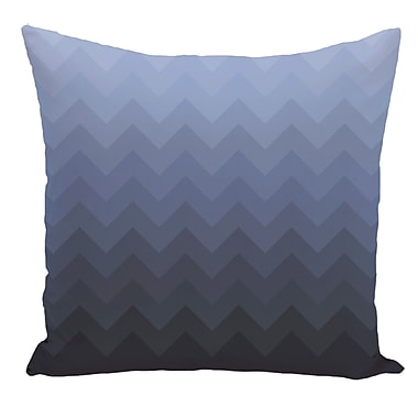 e by design Chevron Decorative Floor Pillow; Blue