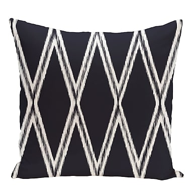 e by design Geometric Decorative Floor Pillow; Navy Blue