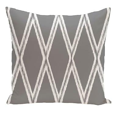 e by design Geometric Decorative Floor Pillow; Gray