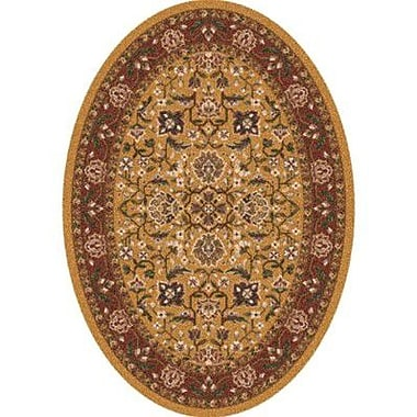 Milliken Pastiche Abadan Spice Gold Oval Rug; Oval 5'4'' x 7'8''