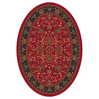 Milliken Pastiche Abadan Currant Red Oval Rug; Oval 3'10'' x 5'4''