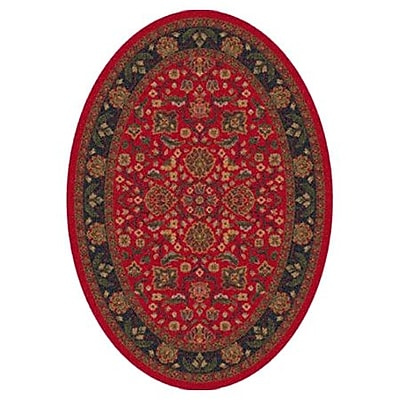 Milliken Pastiche Abadan Currant Red Oval Rug; Oval 7'8'' x 10'9''