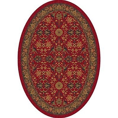 Milliken Pastiche Kamil Red Cinnamon Oval Rug; Oval 3'10'' x 5'4''