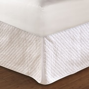 Greenland Home Fashions Diamond Quilted Bed Skirt; Queen