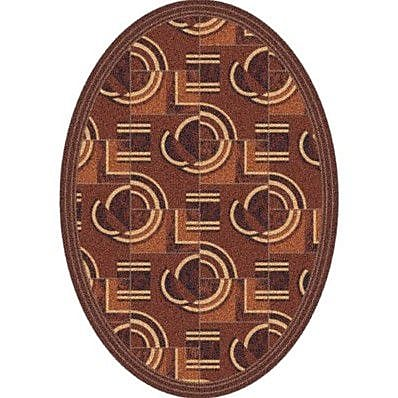 Milliken Pastiche Modernes Rusted Earth Contemporary Oval Rug; Oval 7'8'' x 10'9''