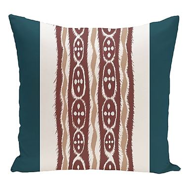 e by design Stripe Decorative Floor Pillow; Blue/Brown