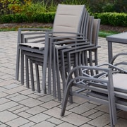 Oakland Living Padded Sling Stacking Patio Dining Chair (Set of 4)