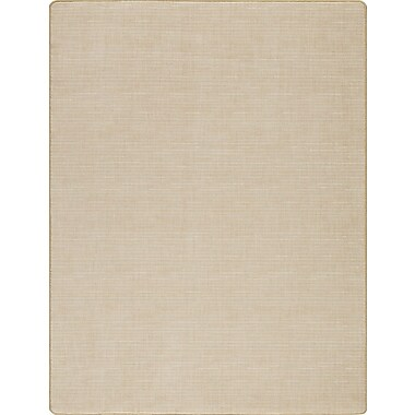 Milliken Imagine Broadcloth Raw Silk Beige Area Rug; Rectangle 2'7'' x 3'10''