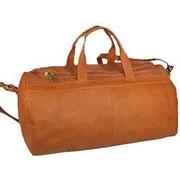 David King 19'' Leather Classic Carry-On Duffel; Tan