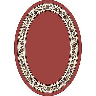 Milliken Signature Symphony Solid Rose Quartz Solid Oval Rug; Oval 3'10'' x 5'4''