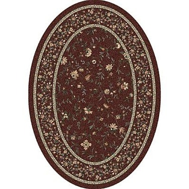Milliken Pastiche Hampshire Floral Rust Oval Rug; Oval 7'8'' x 10'9''