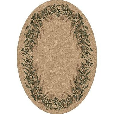 Milliken Pastiche Baskerville Barley Contemporary Oval Rug; Oval 3'10'' x 5'4''