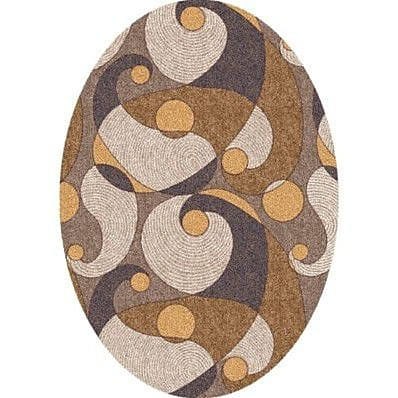 Milliken Pastiche Remous Stucco Contemporary Oval Rug; Oval 3'10'' x 5'4''