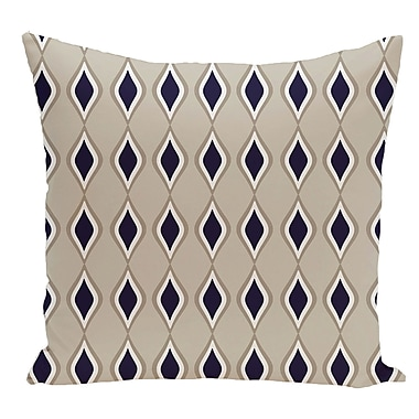 e by design Geometric Decorative Floor Pillow; Dark Blue/Brown