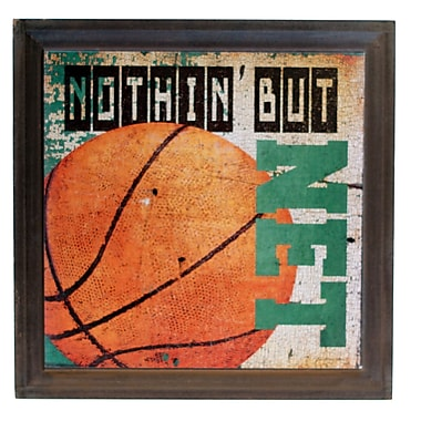 American Mercantile Wood Basketball Sign Graphic Art