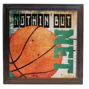 American Mercantile Wood Basketball Sign Graphic Art