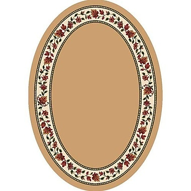 Milliken Signature Symphony Solid Wheat Oval Rug; Oval 3'10'' x 5'4''