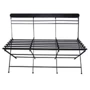 American Mercantile Metal Entryway Bench; Black