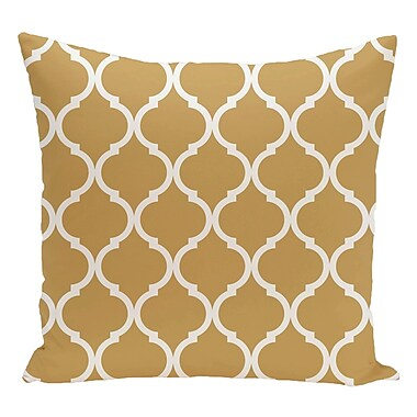 e by design Geometric Decorative Floor Pillow; Yellow