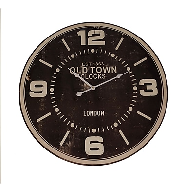 American Mercantile Oversized 23'' Wood 'Old Town' Wall Clock