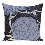 e by design Floral Decorative Floor Pillow; Blue