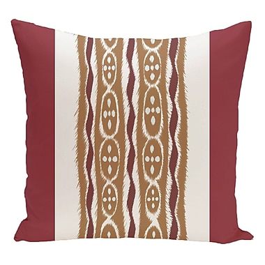 e by design Stripe Decorative Floor Pillow; Red/Brown