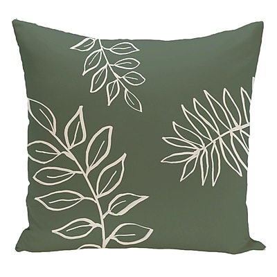e by design Floral Decorative Floor Pillow; Green/White