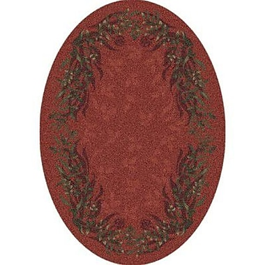 Milliken Pastiche Baskerville Titian Contemporary Oval Rug; Oval 3'10'' x 5'4''