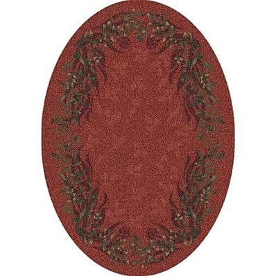 Milliken Pastiche Baskerville Titian Contemporary Oval Rug; Oval 5'4'' x 7'8''