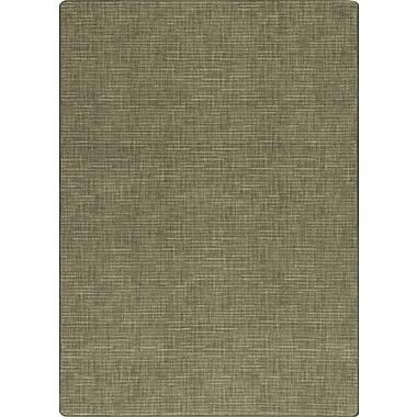 Milliken Imagine Broadcloth Grasscloth Green Area Rug; Rectangle 7'8'' x 10'9''