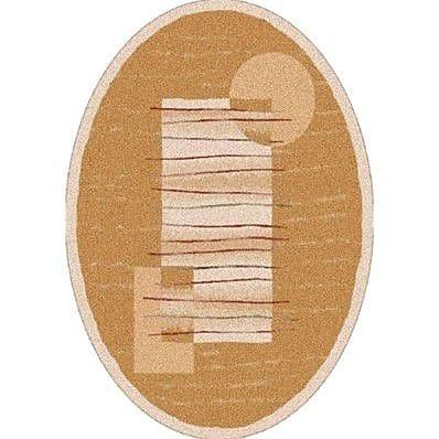 Milliken Pastiche Horizon Sand Oval Rug; Oval 5'4'' x 7'8''