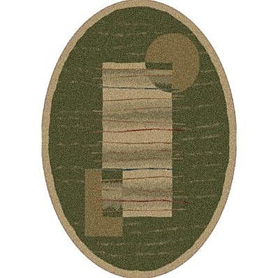Milliken Pastiche Horizon Old Gold Oval Rug; Oval 3'10'' x 5'4''