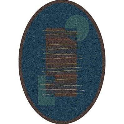 Milliken Pastiche Horizon Dark Brown Oval Rug; Oval 7'8'' x 10'9''
