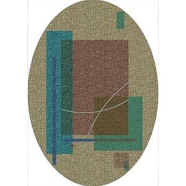 Milliken Pastiche Fairmont Seagrass Oval Rug; Oval 7'8'' x 10'9''
