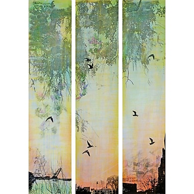 Marmont HIll 'Green Tiempo 3-Piece Set' by Tracy Silva Barbosa Painting Print on Wrapped Canvas