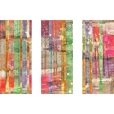 Marmont HIll 'Multi-Season Trees Triptych' Painting Print on Wrapped Canvas; 40'' H x 60'' W