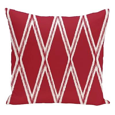 e by design Geometric Decorative Floor Pillow; Red